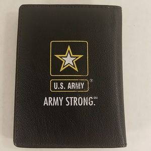 Other - Leather U.S. Army bi-fold money clip, card holder.